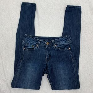 &Denim H&M Super Skinny Low Waist Blue Denim Jeans